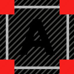 edit, letter, scale icon