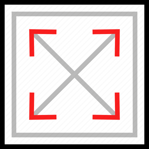 expansion, extend, window icon