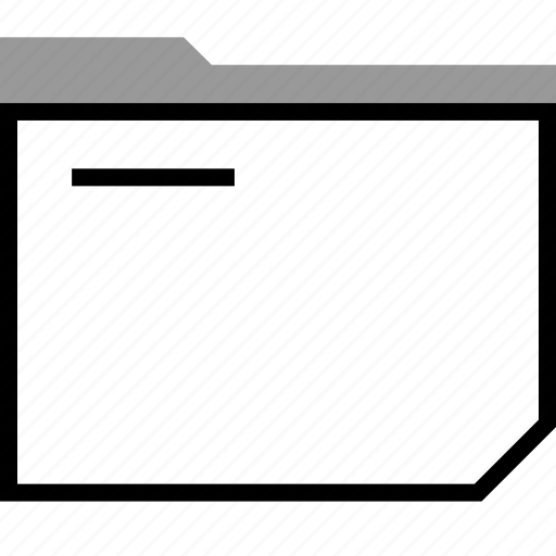archive, file, folded icon