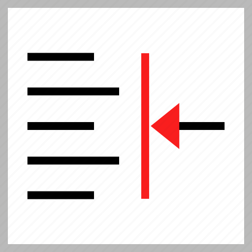 indent, left, text icon