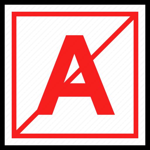 color, letter, no icon