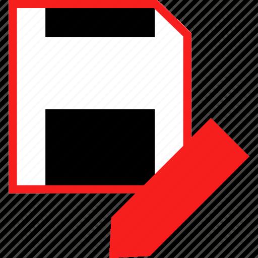 disk, edit, pencil icon