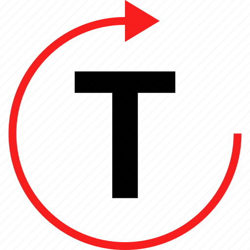 arrow, refresh, text icon