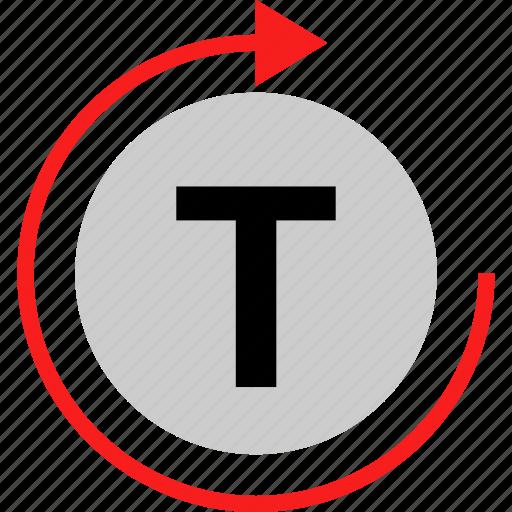 loop, refresh, text icon
