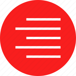 alight, paragraph, right, text icon