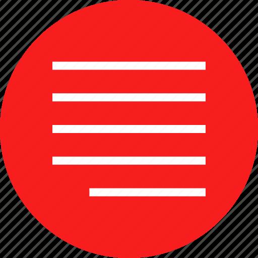 align, paragraph, right, shift icon