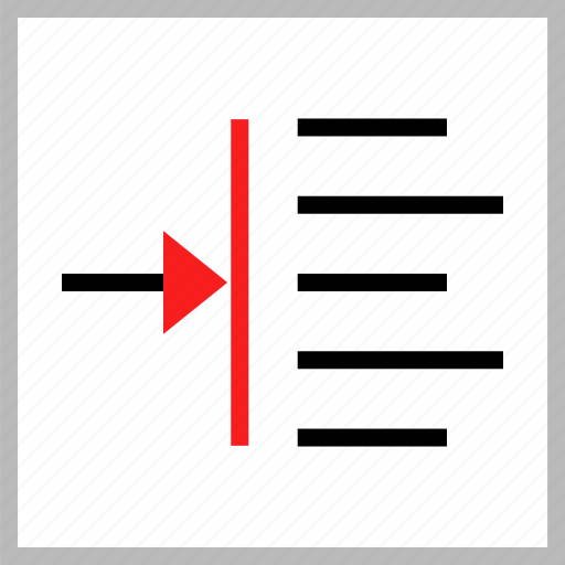 align, shift, text icon