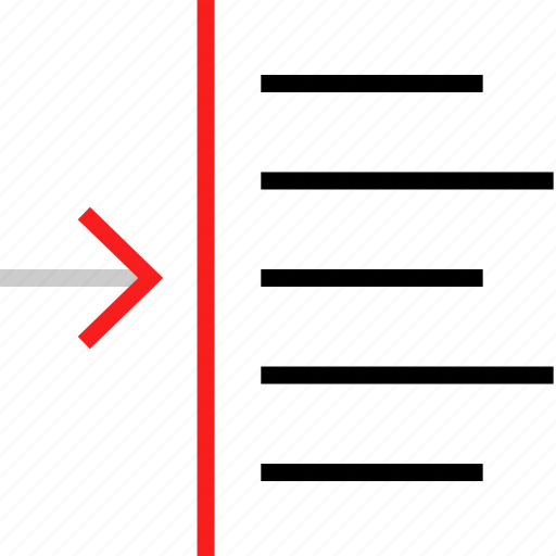 arrow, shift, text icon