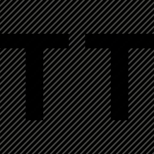 caps, small, text icon