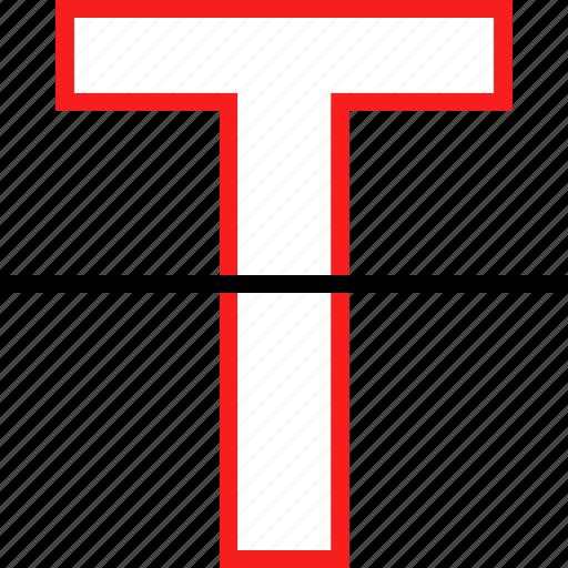 strike, style, text icon