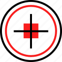 cross, pointer, target icon
