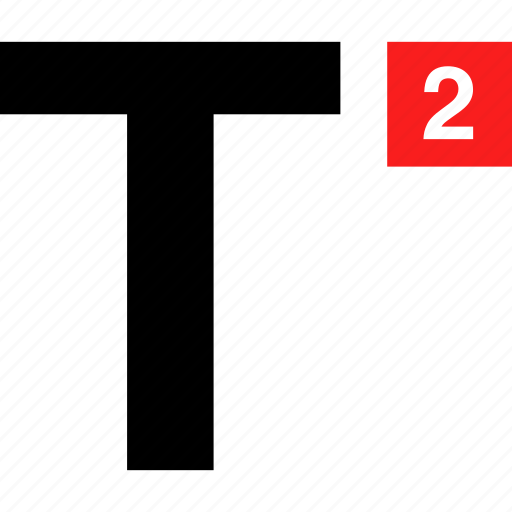 number, text, two icon