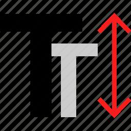 arrow, scale, text icon