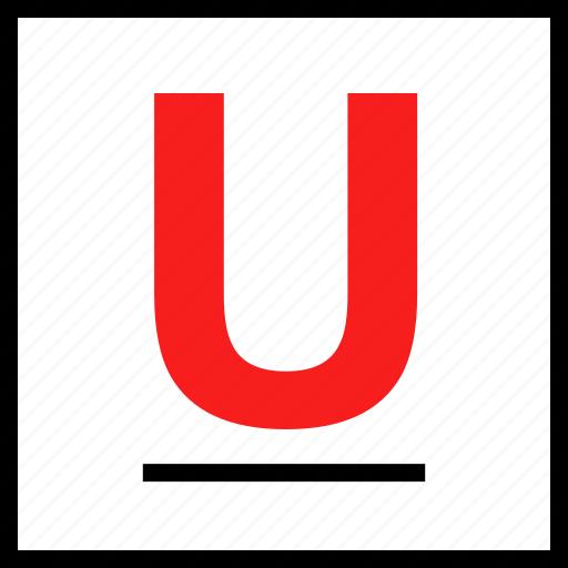 line, u, underline icon