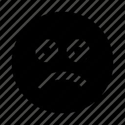 author, editor, emoji, sad, text, write, writer icon