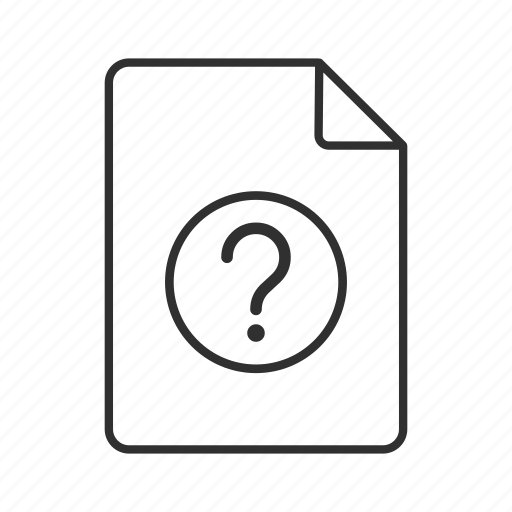 Unknown document, unknown file, unknown file icon, unknown format, unknown icon, unknown icon - Download on Iconfinder