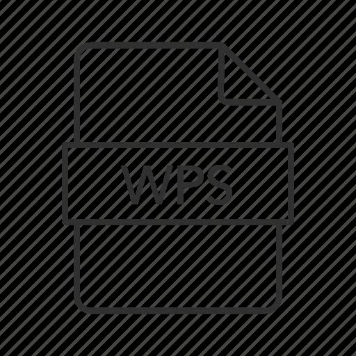 microsoft works word processor document, wps, wps document, wps file icon, wps icon, wps image, wps text format icon