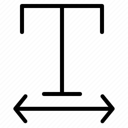 arrows, expand, format, horizontal, t, text icon