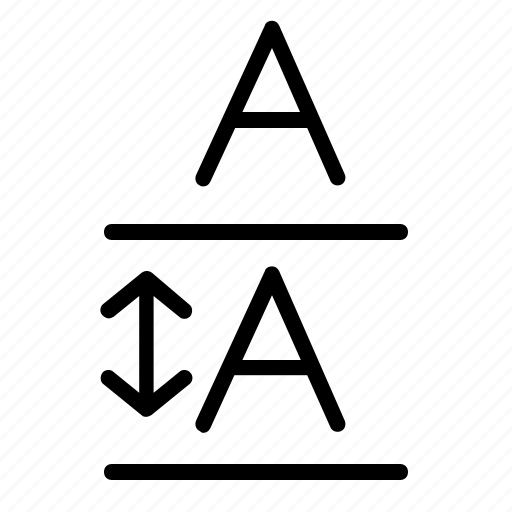 a, arrow, enlarge, format, line, resize, text icon