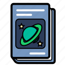 astronomy, book, physics, schoolbook, textbook icon