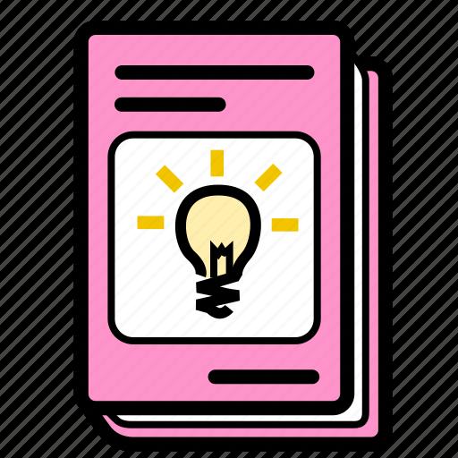book, electricity, schoolbook, science, textbook icon