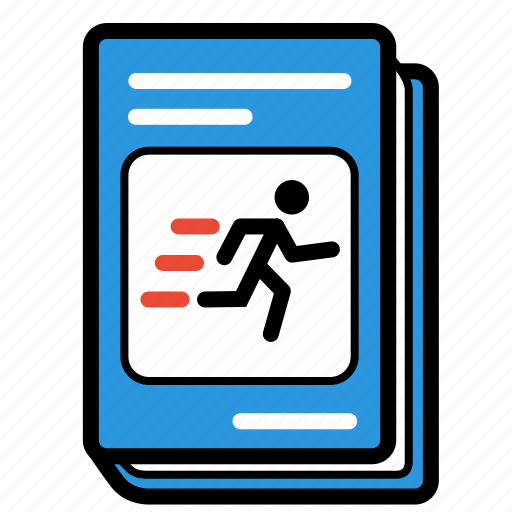 fitness, games, schoolbook, sports, textbook icon