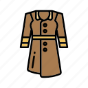 coat, fashion, instagram, raincoat icon