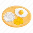 food, fried, rice, egg, lunch, thai icon