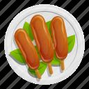 3, cooking, fish, food, leaf, plate, thai