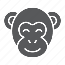 africa, animal, asia, cute, monkey, smile, zoo icon
