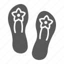 beach, flip, flops, footwear, sandals, shoes, slipper icon