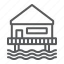 beach, bungalow, home, hotel, hut, sea, seaside icon