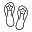 beach, flip, flops, footwear, sandals, shoes, slipper icon