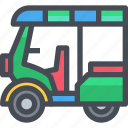 car, transport, tuktuk, vehicle icon