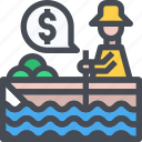 boat, market, ship, tourism, travel icon