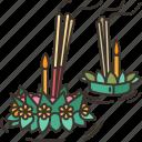 loy, krathong, festival, river, traditional