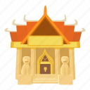 buddhism, cartoon, japan, landmark, old temple, tokyo, travel icon