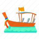 boat, canal, carrier, cartoon, gondola, gondolier, water taxi