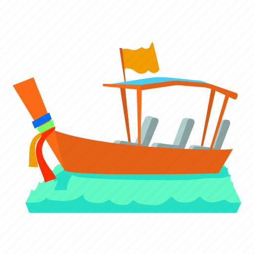 boat, canal, carrier, cartoon, gondola, gondolier, water taxi icon