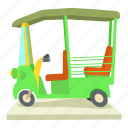 asian taxi, auto, cartoon, india, rickshaw, taxi, travel icon