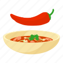 cartoon, chilli, food, hot, mexican, pepper, red icon