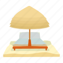 beach, cartoon, rest, summer, travel, umbrella, vacation icon