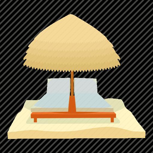 beach, cartoon, rest, summer, travel, umbrella, vacation icon