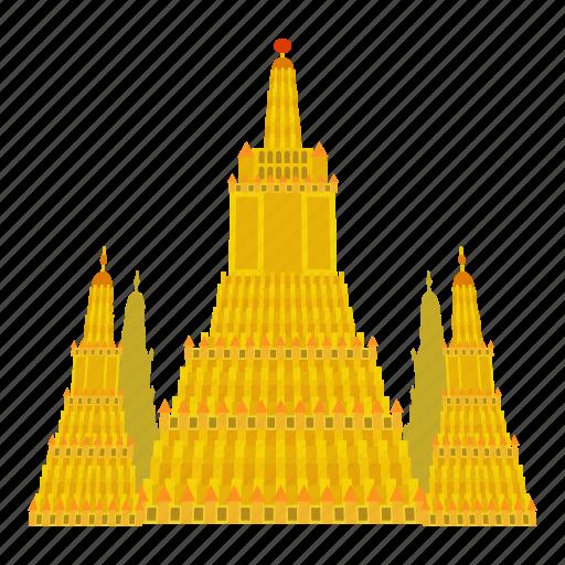 cartoon, india, indian, landmark, tower, travel, virupaksha temple icon