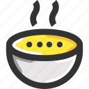 bowl, food, hot food, hot soup, soup icon