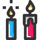 candle, celebration, decoration, light
