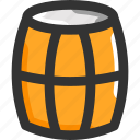 barrel, store, wine icon