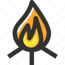 campfire, camping, fire, firewood icon