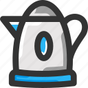 fire, hot water, kettle icon