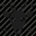 animal, christmas, deer icon